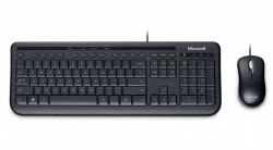KIT MICROSOFT TASTATURA + MOUSE DESKTOP 600 USB BLACK APB-00013-FC